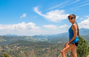 At the Kandy Mountain in Sri Lanka